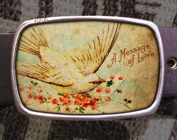 A Message of Love Belt Buckle 701
