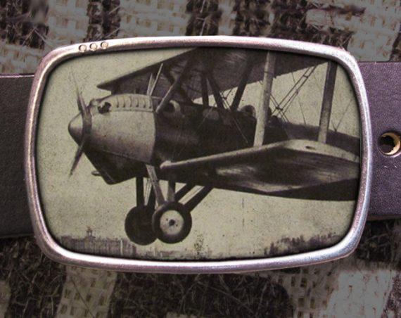 Airplane Belt Buckle, Biplane Flight Buckle 536