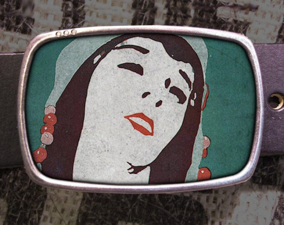 Bead Girl Belt Buckle, Vintage Inspired, Shabby Chic 556