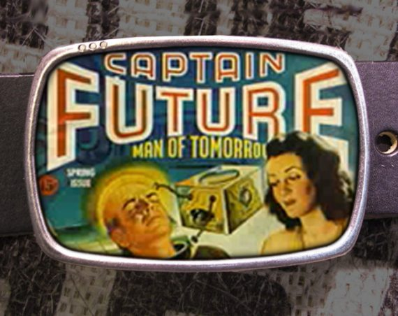 Captain Future Belt Buckle Man of Tomorrow Buckle 123