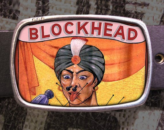 Circus Blockhead Belt Buckle 726
