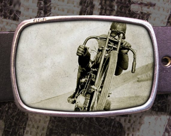 Cool Rider Belt Buckle, Motorcycle Racer Buckle 524