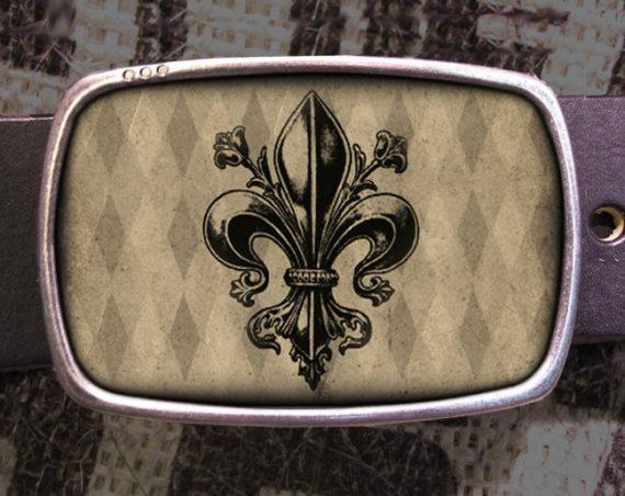 Fleur De Lis Belt Buckle, French Buckle, Shabby Chic 612