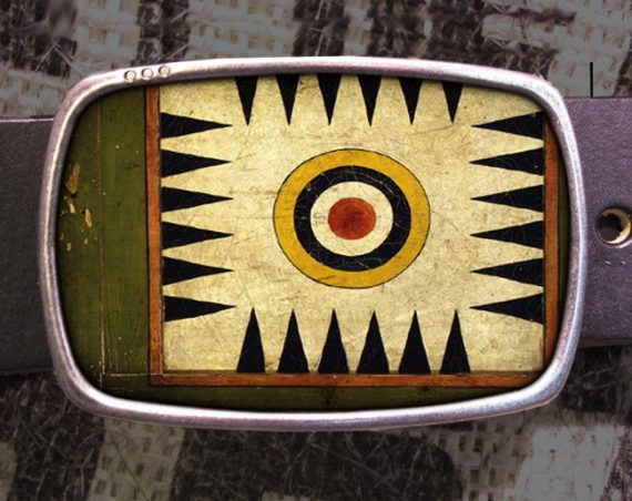 Game Board Belt Buckle Vintage Parcheesi Backgammon A01