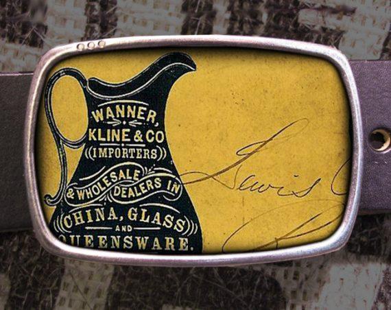 Glassware Belt Buckle, Vintage Inspired, Shabby Chic 602