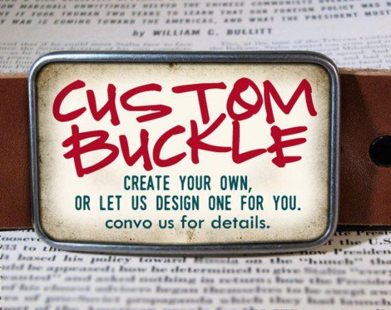Custom Belt Buckle - Personalized Gift