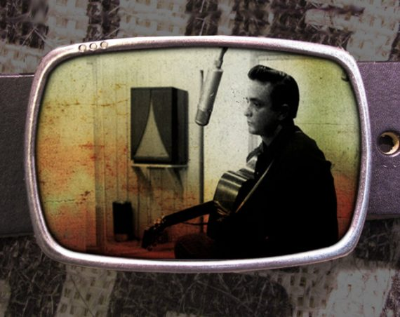 Johnny Cash Belt Buckle, Vintage Inspired 551