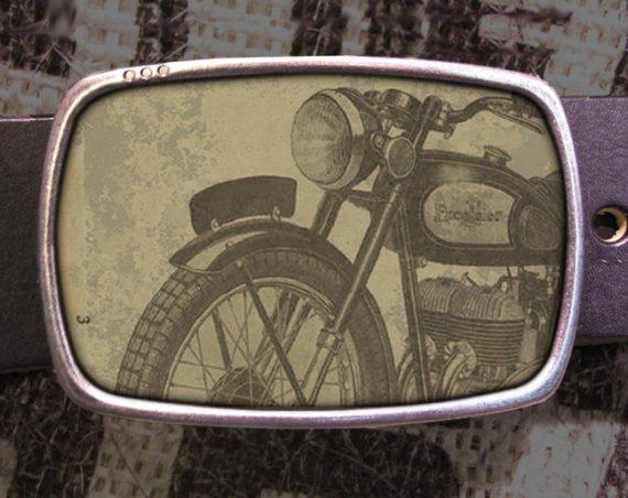 Motorcycle Belt Buckle, Vintage Inspired 525