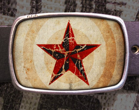 Nautical Star Belt Buckle, Rock Buckle 625