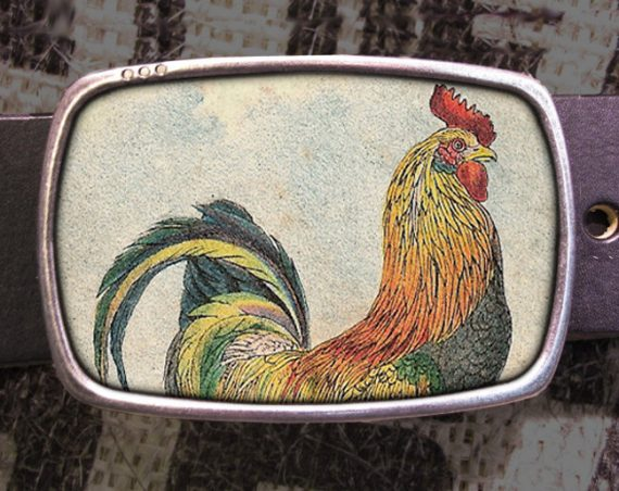 Rooster Belt Buckle, Cocky Buckle 517