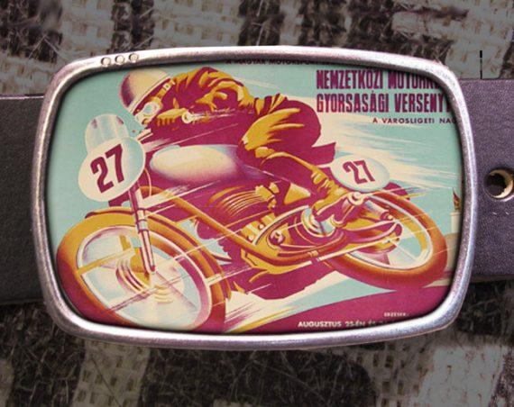 Russian Motorcycle Biker Vintage Style Belt Buckle 802