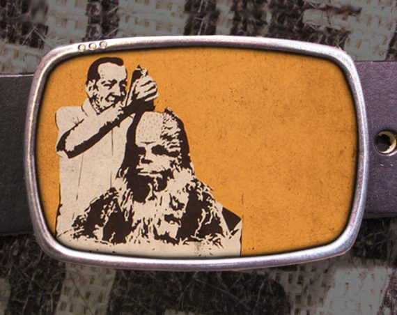 Star Wars Belt Buckle, Chewbacca Hair Cut Vintage Inspired, Geekery 581