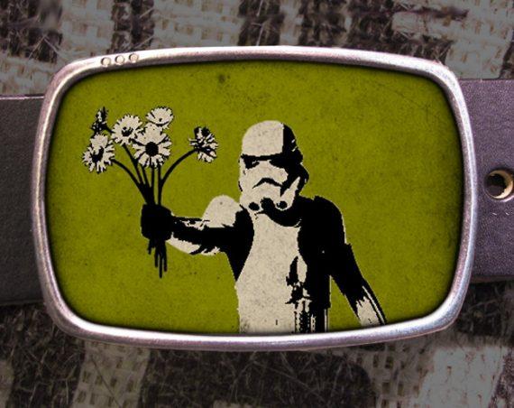 Star Wars Belt Buckle, Storm Trooper Bouquet Vintage Inspired, Geekery 611