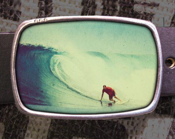 Surfer Belt Buckle, Beach Buckle, Wave Belt Buckle 704