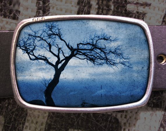 Tree Silhouette Belt Buckle, Nature Buckle 604