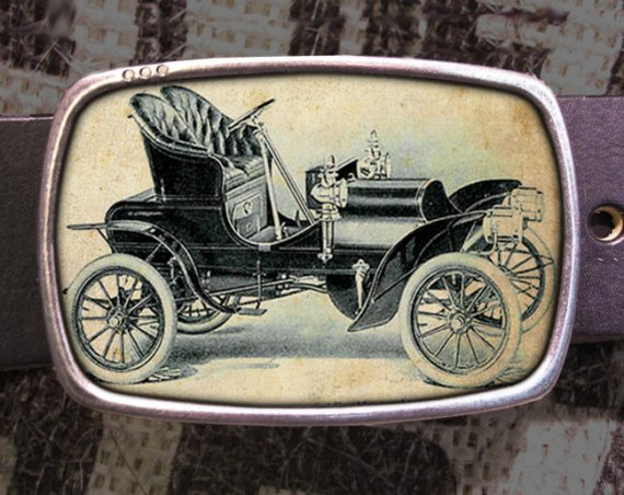Vintage Car Belt Buckle, Vintage Inspired, Shabby Chic 530
